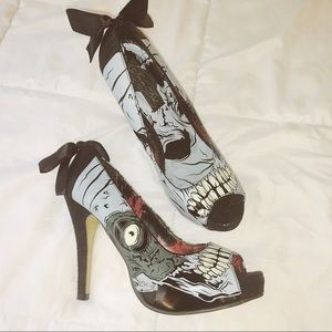 Iron Fist Glow In The Dark Zombie Heels